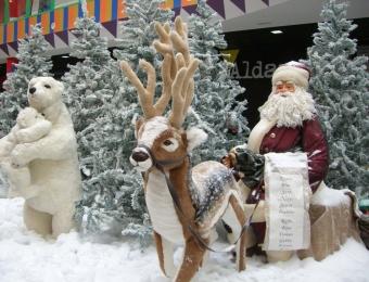 Decoración navideña de centros comerciales