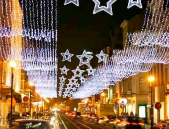 alquiler de luces navidad exteriores